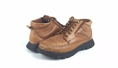 "f3b36658eae2 Dr. Scholls ""Mily"" Women s Brown Leather Hiking Walking Ankle Boots Size 7"