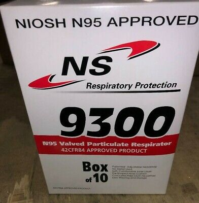 5 (boxes) NORTHERN SAFETY 22138 DISPOSABLE RESPIRATOR MASKS N95 10/box