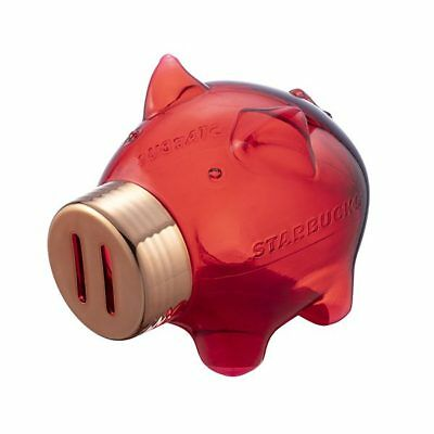 Starbucks Taiwan 2019 Chinese lunar year of pig plastic piggy bank moneybox