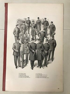 1912 Police/ Military Uniform TAYLOR Advertising Poster Antique Fire Department