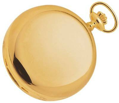 Woodford Gold Plated Full Hunter Swiss Pocket Watch - Gold