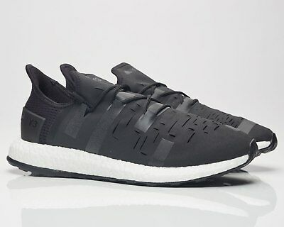 d16233047 Adidas Y-3 Yohji Yamamoto Approach Low Black White Boost Shoes Sneakers  AQ1605
