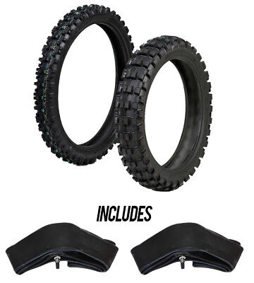 ProTrax Offroad Front 80/100-21 & Rear 110/100-18 Tire & Tubes Combo Motorcycle