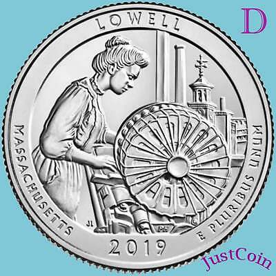 2019-D Lowell National Historic Park (Ma) Uncirculated Quarter