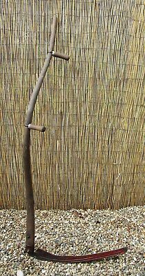 """Farm Ranch Scythe Snath 26.5"""" Sickle Blade 63"""" Wooden Handle Country Display 5"""