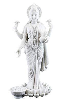 "10.25"" Lakshmi Hindu Goddess Wealth Prosperity Wisdom Hinduism Statue Sculpture"