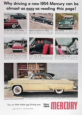 1954 MERCURY MONTEREY COUPE Original Vintage Advertisement