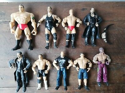 Lotto WWE Hasbro Wrestling Action Figures John Cena Randy Orton Undertaker Jakks