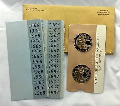 1966 - 1967 Franklin Mint History of the United States Proof Bronze Medals