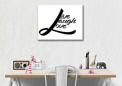 Live Love Laugh Canvas Prestretched Office Home Decor Motivational Patience Work 22 50 Picclick