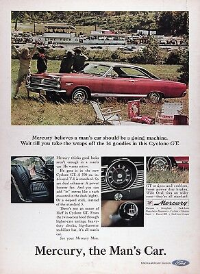 1967 MERCURY CYCLONE GT Genuine Vintage Advertisement ~ 390 V-8