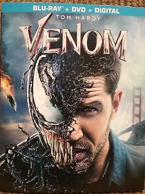 Venom, 2018 (Blu-Ray + DVD + Digital)