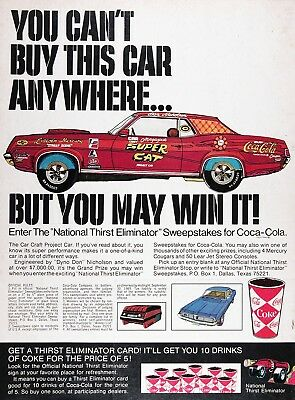 1969 COCA COLA ELIMINATOR SWEEPSTAKES Vintage Advertisement