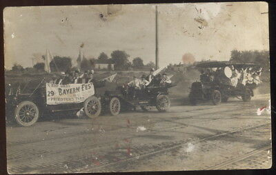 Early Rppc, Old Cars In Parade, Bayern Fest, Priester's Park, St. Louis, Mo.