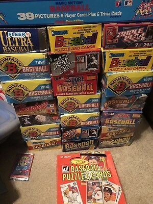 Estate Liquidation - Lot Of New And Old Vintage Unopened Baseball Cards In Packs