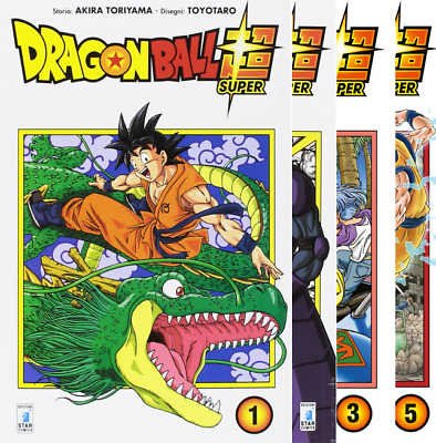 Dragon Ball Super manga serie completo da 1 a 5 Star Comics Italiano nuovo -10%
