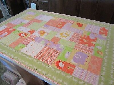 Handmade, Quilted Baby Blanket