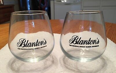 Blanton's Bourbon...rocking Glasses...2 Glasses...