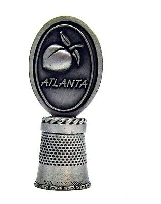 Atlanta Georgia Hi Relief Fort Pewter Thimble Peach Topper