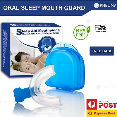 Anti Snore Mouthpiece Reusable Sleeping Guard For Apnea - Drug Free
