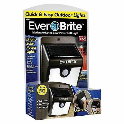 2 Pack EverBrite Motion Activated Outdoor LED Solar Power Wireless Light