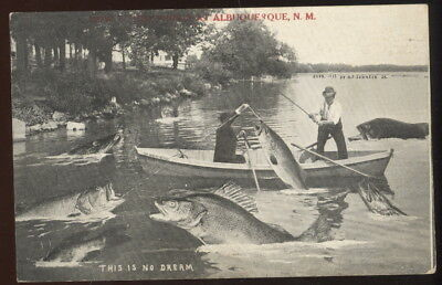 1920 Fishing Exaggeration Sepia Photo Pc, How We Do Things In Albuquerque, N.m.