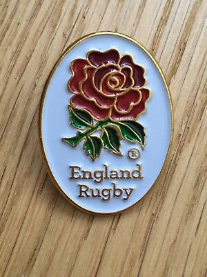 England Rugby RED ROSE Pin Badge