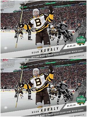 2x TOPPS NOW SEAN KURALY BRUINS 2019 WINTER CLASSIC SKATE DIGITAL Card 1.1.2019