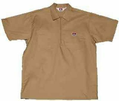 8fcabfccf99 NEW BEN DAVIS Short Sleeve 1 4 Zip Work Shirt 2XL -  19.50
