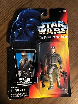 Star Wars Han Solo In Hoth Gear Red Card POTF No Hologram