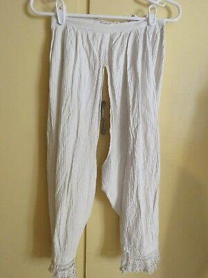 VINTAGE Ladies SPLIT BOTTOM Bloomers Early 1900s Ribbed Cotton Tie String LQQK!