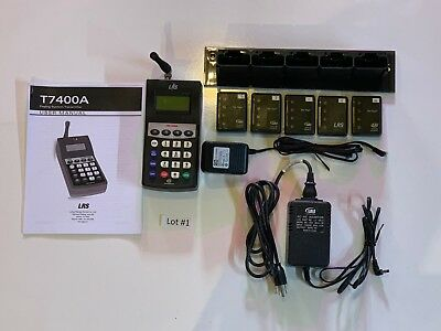 LRS TX-7400A Long Range Terminal w/ 5 LRS Pagers Pre-Owned Lot#1