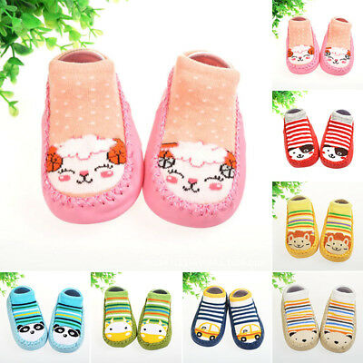 New Baby Shoes Socks Cartoon Warm Soft Kids Slipper Boots Boys Anti-slip Indoor