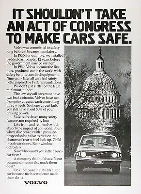 1973 VOLVO 144 Lot of (3) Authentic Vintage Ads ~ 5 Yr. Build