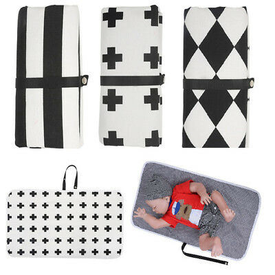 Portable Cotton Waterproof Changing Pad Baby Diaper Clutch Change Station
