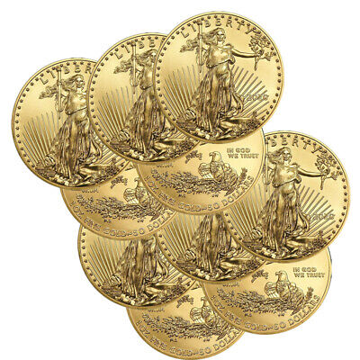 Lot of 10 Gold 2020 American Eagle 1 oz. $50 Gold Coins BANK WIRE Payment Only