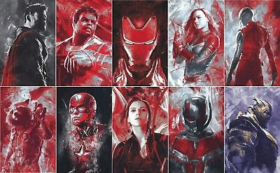 Avengers 4 End Game Movie Poster Russo Brothers Marvel Characters Art Silk Print