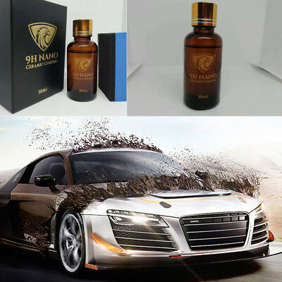 9H NANO Ceramic Car Glass Coating Liquid Hydrophobic AntiScratch Auto Care UK