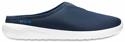 NEW Genuine Crocs  LiteRide Mule Navy/White