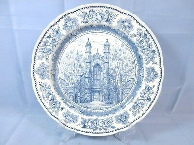 """YALE University 10 1/2""""  Wedgewood Collector Plate 1949 Old Library 1944"""