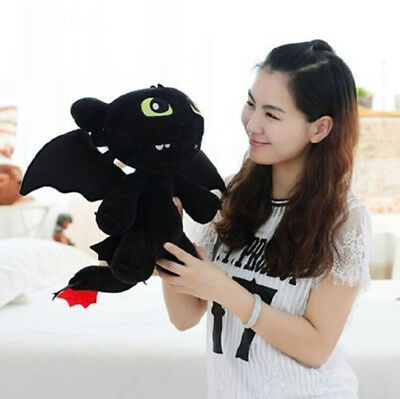 25cm How to Train Your Dragon Toothless Night Fury Stuffed Animal Plush Toy Doll