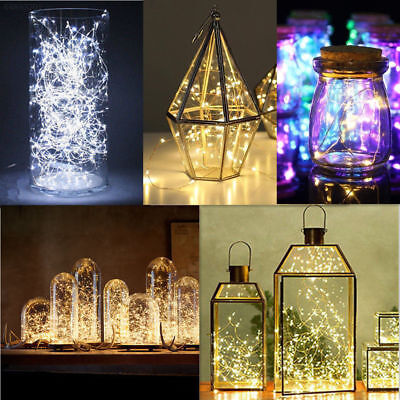 20/50/100 LEDs Battery Operated Mini LED Copper Wire String Fairy Lights 10M,