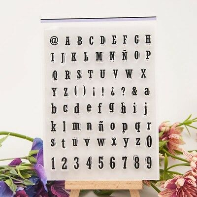 Number Alphabet Silicone Stamp Transparent Rubber Stamps Cling DIY Scrapbook HI