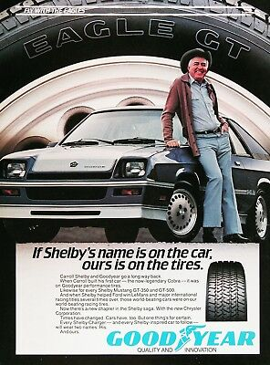 1983 GOODYEAR SHELBY CHARGER Genuine Vintage Ad