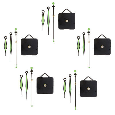 5 Sets Battery Operated Movement for Quartz Wall Clock Repair Replacement