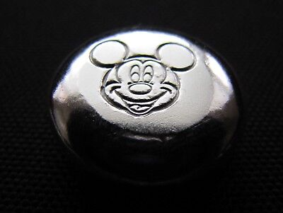 HACMint 1.3 oz 999+ Fine Silver MICKEY MOUSE Hand Poured ART Coin Round