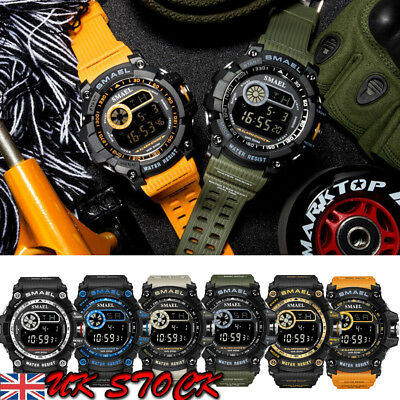 Men's Army Sport Quartz Wrist Day Date Digital Watch Waterproof Military UK