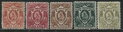 Uganda QV 1898-1902 various values to 8 annas mint o.g.