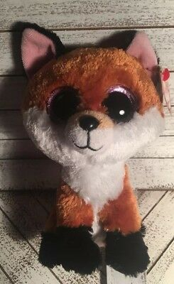 ab5bede2c80 TY Beanie Boos - SLICK the Brown Fox (Glitter Eyes) (6 inch)