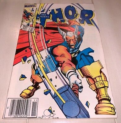 The Mighty Thor #337 1st Appearance Beta Ray Bill Cates GOTG Newsstand